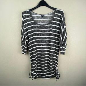 Torrid cinch side striped knit sweater tunic 2x